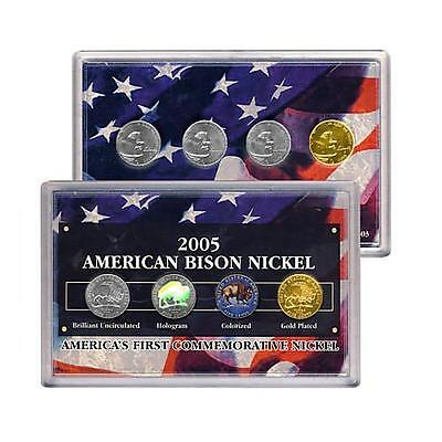 2005 American Bison Nickel Collection - gift set - AMERICAS FIRST COMMEMORATIVE