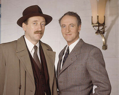Hugh Fraser and Philip Jackson UNSIGNED photo - H2240 - Poirot