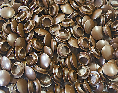 50 X 10Mm Cover Cap Brown Hole Blanking Bung Cabinet Cupboard Furniture Kitchen