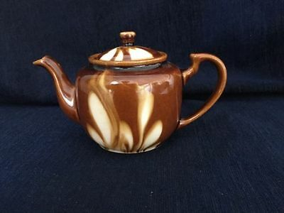 "Vintage Drip Glaze Small Single Serve 6"" Teapot Made In China"