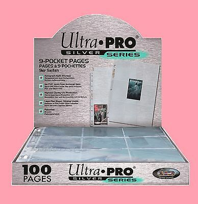 DISCOUNT 10x ULTRA PRO SILVER CCG TCG MTG YUGIOH POKEMON 9 Pocket sleeves Pages