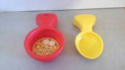 Fisher Price Laugh & Learn KITCHEN REFRIGERATOR Soup Pan + Spoon