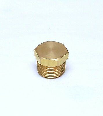 """1"""" Male NPT MPT MIP Brass Hex Head Pipe Plug Fitting FasParts Cored Hollowbody"""