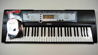 Yamaha PSR-E213 Digital Electronic Keyboard W/ New Casio MIDI Cable. Ships Free.
