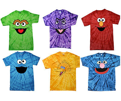 eafd6933 ... Tie Dye T-Shirt Kids And Adult · Like us on Facebook ·  Oscar,Count,Cookie,Elmo,Big Bird,Zoe,Abby,Grover