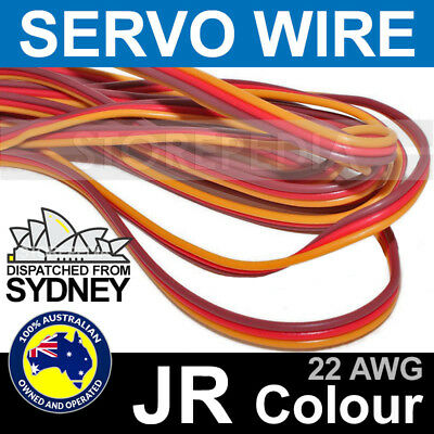 RC SERVO WIRE JR Colours 22AWG per Metre Cable Color 22 AWG Drone Quadcopter