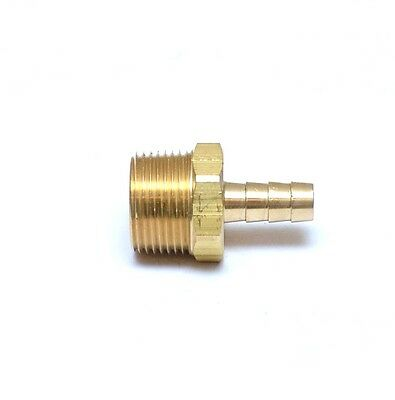 3/8 Hose ID Barb 3/4 NPT Male Straight Hose End Brass Fitting Air Water Oil Gas