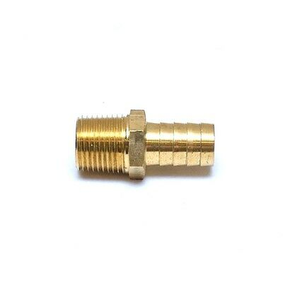 Straight 5/8 Hose ID Barb 1/2 NPT Male Brass Fitting Water Oil Gas Air Fuel