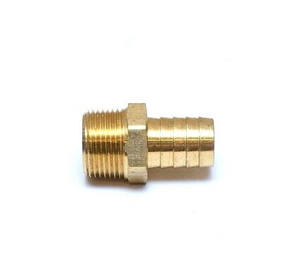 Straight 3/4 Hose ID Barb 3/4 NPT Male Brass Fitting Air Water Oil Gas FasParts