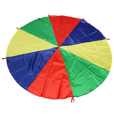 2M/6.5FT Childrens Play Rainbow Parachute Outdoor Game Exercise Sport ED