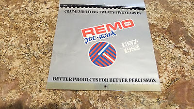 Remo/Pro-Mark 25th Anniversary 1982 Dealer-Only Calendar