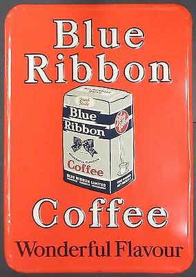 Vintage Blue Ribbon Coffee Sign
