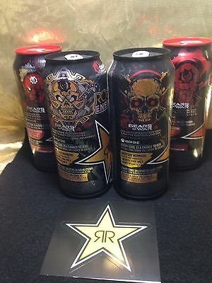 Rockstar Energy Drink Gears Of War 4, Xbox One Cans, 1,2,3 & 4 Of 4.