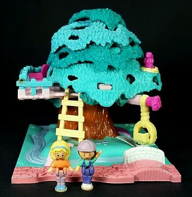 Polly Pocket 1994 POLLY'S TREEHOUSE Complete Vintage Bluebird Tree House