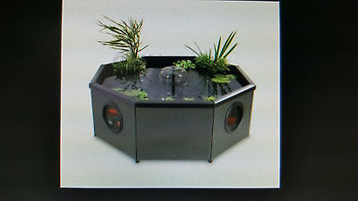 New Freestanding 708lt Octagonal pond with filtration unit with UV and LED