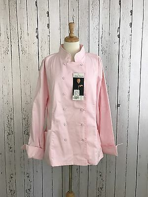 Chef Works Women's Coat Pink 3X Double Breasted NWT