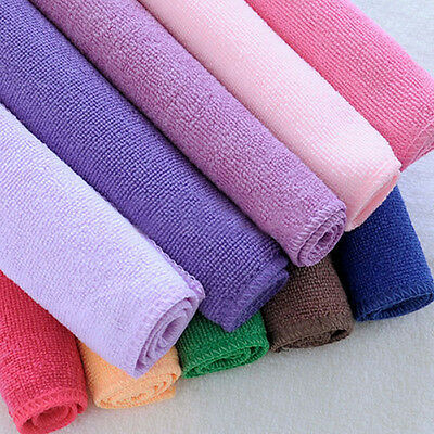 10Pcs Microfibre Cleaning Cloth Towel Car Valeting Duster Kitchen Wash Newest