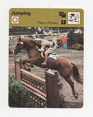 1978 Sportscaster Card Jumping Piero d'inzeo #24-21.