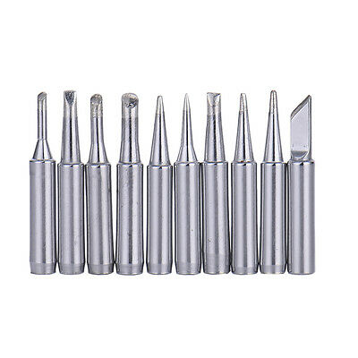 10pcs Replace Common Solder Soldering Iron Tip for Hakko Station 900M 933 Silver