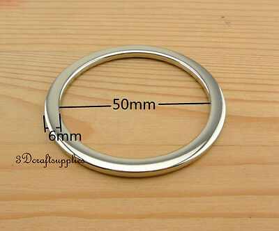 metal O rings O-ring purse ring connector nickel alloying 50 mm 2 inch 10pcs U4