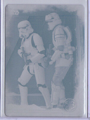 Imperial Forces 2016 Topps Star Wars Rogue One S1 Cyan Printing Plate #27 1/1