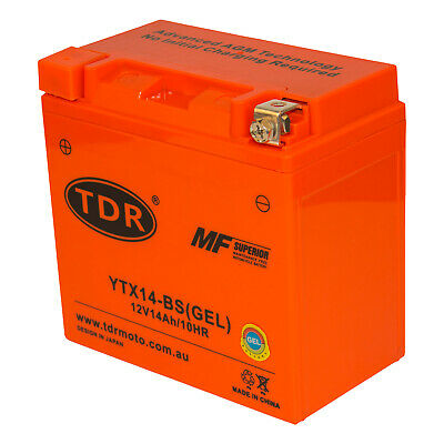 Motorcycle 12V AGM CTX14-BS YTX14-BS Battery Hyosung 250 GT250, R 09/10/11/12