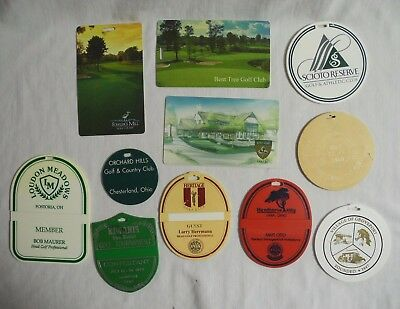 Ohio Golf Bag Tags Scioto Reserve Hawthorne Hills Heritage Dublin Bent Tree
