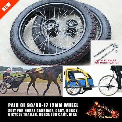 Sulky Wheels Tyre Inner Tube Harness Racing Horse Carriage Jog Free Axles Bolt