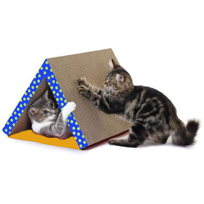 Cat Scratch Tunnel Kitten Toy Tough Layered Cardboard Play/Activity/Fun Foldable