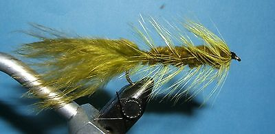 Woolly Bugger olive - 12 flies -#4,6,8,10