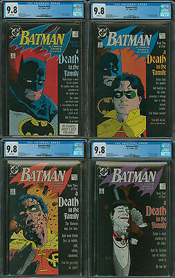 Batman #426, 427, 428, and 429 CGC 9.8 set, all 4 A Death in th Family in 9.8