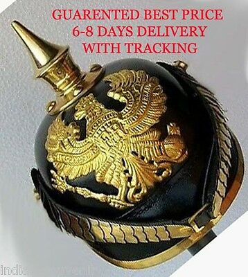 GERMAN PICKELHAUBE HELMET PRUSSIAN  IMPERIAL OFFICER'S GARDE leather