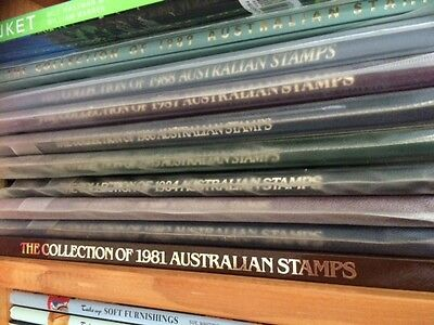 Australian Stamp Collection Year Books 1981-1989 Mint Condition