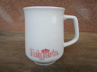 Folger's Mountain Grown Advertising Coffee Cup Mug White / Red