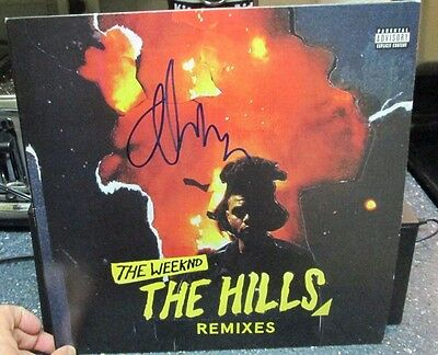 """The Weeknd signed The Hills RSD 12"""" LP record store day"""