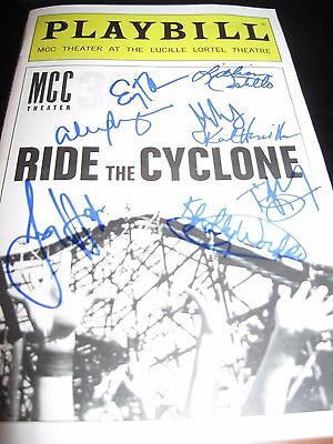 Ride the Cyclone Cast Autographed Playbill WOW !