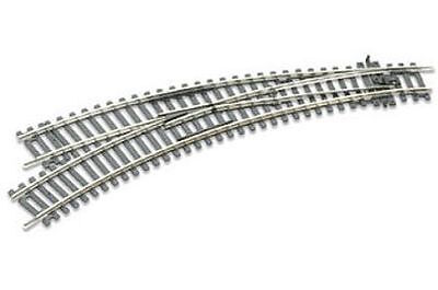 PECO ST-245 – Left Hand Curved Dbl Radius Turnout Code 100- HO Scale