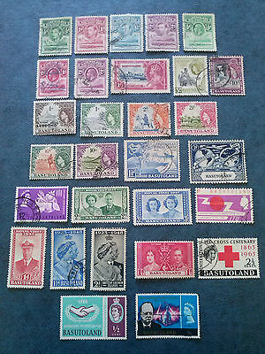 Basutoland 29 Old Stamps Mint & Used
