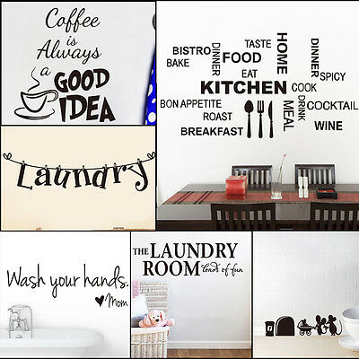 Home Decor Quote Wall Sticker Kitchen/Living Room Art Vinyl Decal Removable