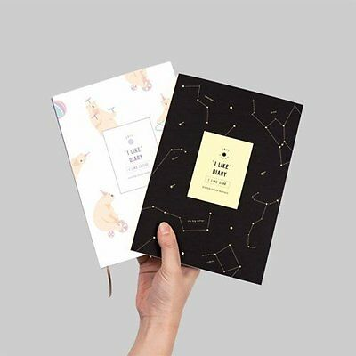I LIKE DIARY 2017 Dated Korean Sticker Journey planner schedule monthly day