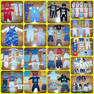 HUGE BUNDLE OF BABY BOYS CLOTHES 3 - 6 months **110 items** + 15 pairs of socks
