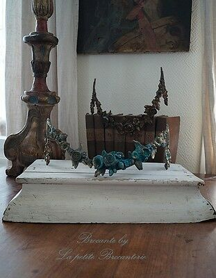 Altes helles HOLZ Plateau Shabby Chic Brocante Frankreich