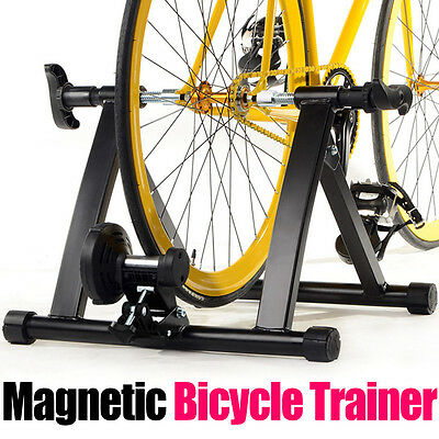Indoor Bicycle Trainer Rollers Magnetic Stand Cycling Training Home Gym Exercise