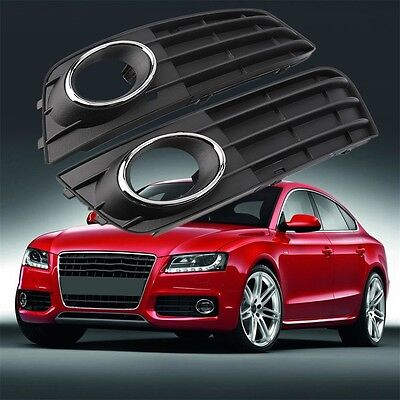 1 Pair Bumper Grille Daytime Light Fog Lamp Cover Ring For Audi B8 A4L 09-11 OE