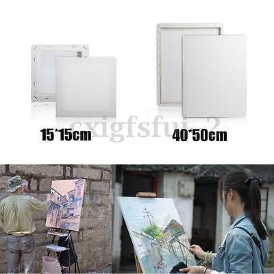 New 15*15cm 40*50cm Blank White Art Painting Drawing Board Canvas Wooden Frame