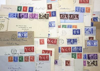 GB Pre 1952 First Day Covers. Mixed Plain and Illustrated x 38 Items. Mostly GVI