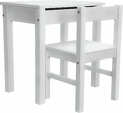 Kids Scandinavia Desk and Chair - White.