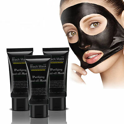1/2/5 Face Mask Nose Blackhead Acne Pore Deep Remover Cleansing Strip Black Mud