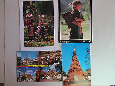 Postcard Thailand - lot of 4 postcards - USED - PC-2057