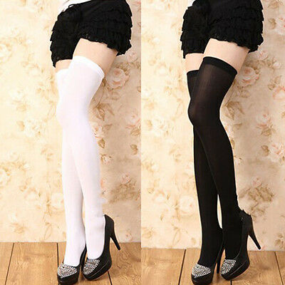 Ladies Over The Knee Thigh High Womens Sheer Stretch Girls Tights Long Socks _